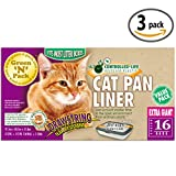 Green N Pack Extra Large Drawstring Cat Pan Liner, 16 Liners (Pack of 3)