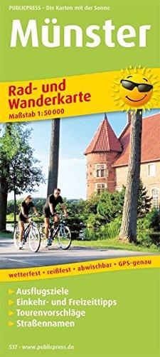 Rad- und Wanderkarte Münster 1 : 50 000