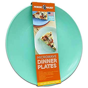Nordic Ware Microwave Dinner Plates Green/Blue (Aqua) ~ Set of 2!  sc 1 st  Amazon UK : microwave dinner plates - pezcame.com