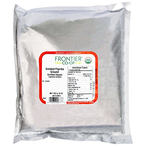 Frontier Natural Products, Organic, Smoked Paprika Ground, 16 oz (453 g) - 2PC