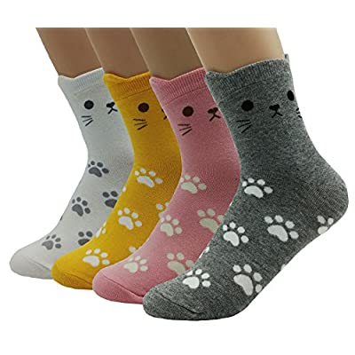 Cat Fan related Products JJMax Women's Sweet Animal Cotton Blend Socks Set One Size... [tag]
