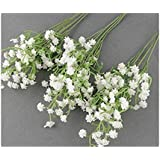10 pcs wholesale fake flower simulation real natural babysbreath artificial gypsophila paniculata flowers for table decoration wedding bouquets by fatcolor