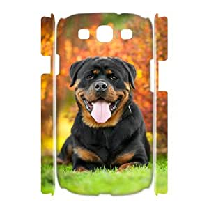 FLYBAI Rottweiler dog Phone 3D Case For Samsung Galaxy S3 I9300 [Pattern-1]