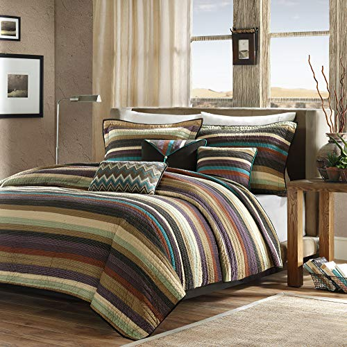 Madison Park Yosemite Quilted Bedding Set, King/Cal King, Multi (Red Brown Sets And Bedding)