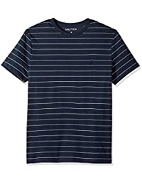 Men's Short Sleeve Striped Crew Neck T-Shirt