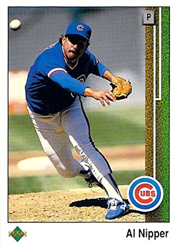 Nipper Single (Baseball MLB 1989 Upper Deck #494 Al Nipper Cubs)