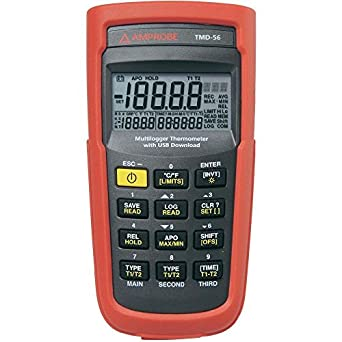 Amprobe TMD-56 Multi-logging Digital Thermometer with 0.05 Percent Basic  Accuracy