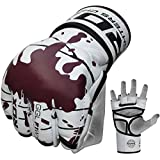 RDX Cow Hide Leather Gel MMA Grappling Gloves Cage UFC Fighting Sparring Glove Training