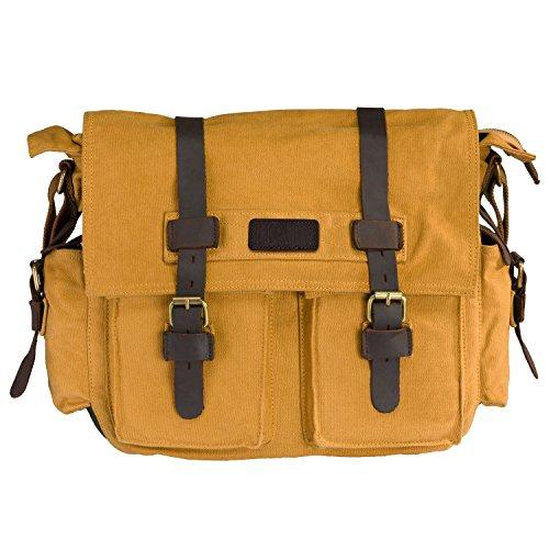 Vintage Casual Women Shoulder Bag(Khaki) - 3