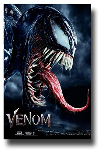 Venom Poster - Movie Promo 11 x 17 inches 2018 Tom Hardy Tongue NT by Poster House