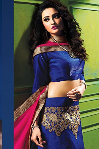 Indian Women Designer Wedding Blue Lehenga Choli Fabz-2612
