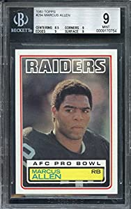 1983 topps #294 MARCUS ALLEN oakland raiders rookie card BGS 9 (8.5 9 9 9.5) Graded Card