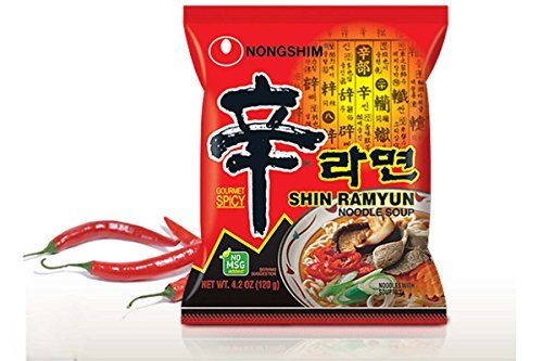 Shin Ramyun Noodle Soup (Gourmet Spicy) - 4.2oz (Pack of 1)
