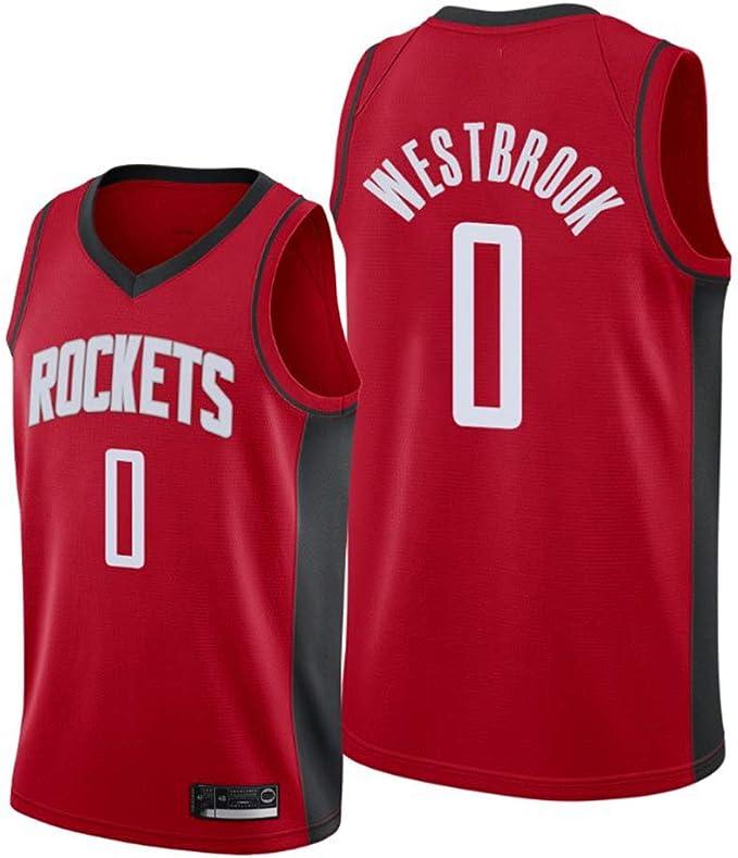 BXWA-Sports Rockets 0# Westbrook Camiseta de Baloncesto para ...