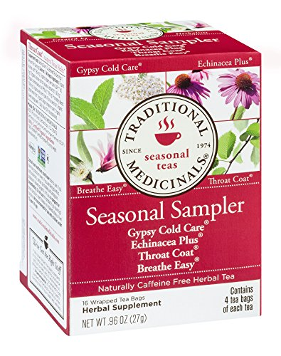 (Traditional Medicinals Seasonal Tea Sampler Variety Pack 16 ea)