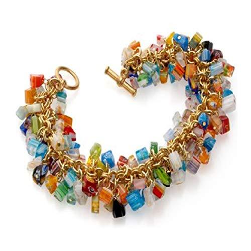 - pricegems Murano Glass Millefiori Bracelet and Earrings 'Mystique of Venice Museum Store