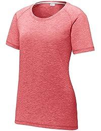 edb82bab Women's Short Sleeve Tee Shirts Scoop Neck Tri Blend Workout Running Yoga