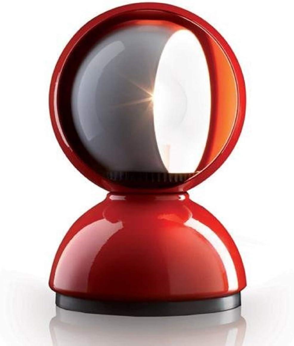 Artemide Eclisse - Lámpara de mesa, color rojo