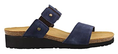 6afacc1a0118 NAOT Footwear Women s Scarlett Sandal Midnight Blue Suede w Rivets 35 ...