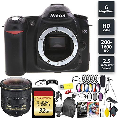 R Camera (Body) + 32GB Memory Card + Nikon 8-15mm Fisheye Lens Wide Angle Combo International Model ()