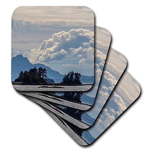 3dRose Danita Delimont - Scenics - USA, Alaska, Tongass National Forest. Mountain and ocean landscape. - set of 8 Ceramic Tile Coasters (cst_314420_4) ()