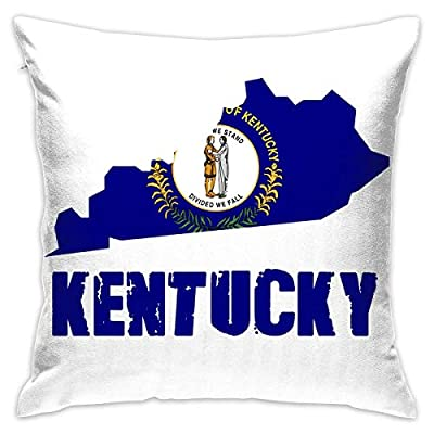changdejidianshebei Flag Map Kentucky Throw Pillows Covers Couch Pillows Protectors Pillowcase No Core
