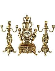 Design Toscano Grande Chateau Beaumont Clock and Candelabra Ensemble, , Polyresin, Gold