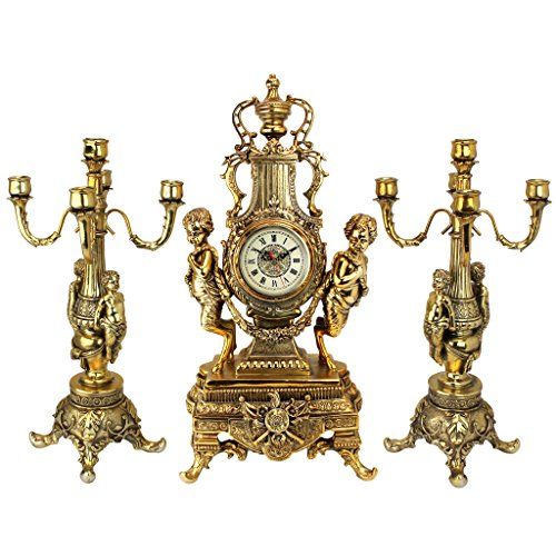 Candelabra Rococo (Design Toscano Inc Chateau Beaumont Grand Clock and Candelabra Ensemble)