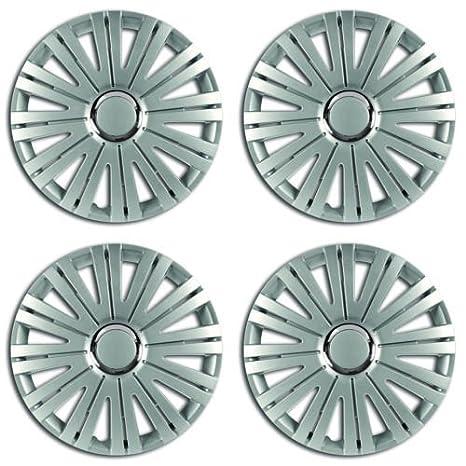 MR E SAVER©® - Juego de 4 tapacubos para llantas de plata activa, 38,1 cm: Amazon.es: Coche y moto