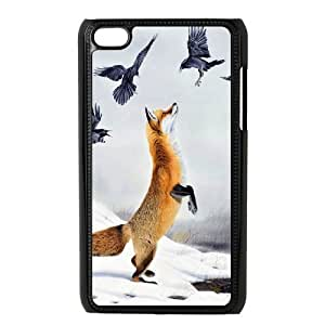 High quality Cute fox series protective case cover FOR IPod Touch 4 y-fcb-u4048