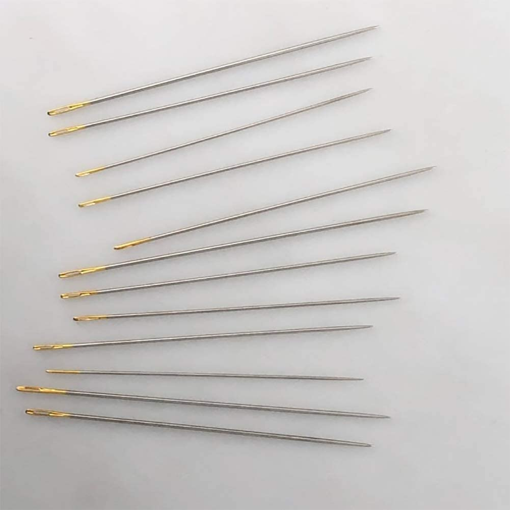 Utoolmart 7pieces Self Threading Needles Carbon Steel Large Eye Stitching Needles Sewing Supplies for Leather Projects Hand DIY Stitching Sewing Embroidery 1pcs