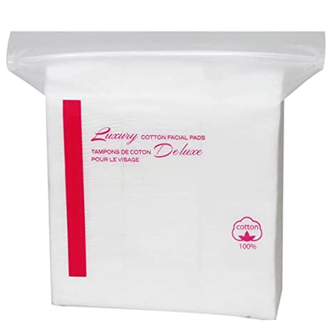 Almohadillas de Algodón de Maquillaje, Kapmore 6 Paquetes de Toallitas Desmaquillantes 100% Algodón Almohadillas