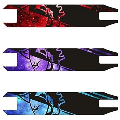 TEAM Dogz Galaxie trotinette AUTO adhésif Bande GRIP avec Dogz tête LOGO Crâne couleur mauve, bleu ou rouge. convient à la majorité MGP , SLAMM ,SACRIFICE etc