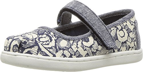 TOMS Kids Baby Girl's Mary Jane (Infant/Toddler/Little Kid) Navy Floral Camo Mary Jane