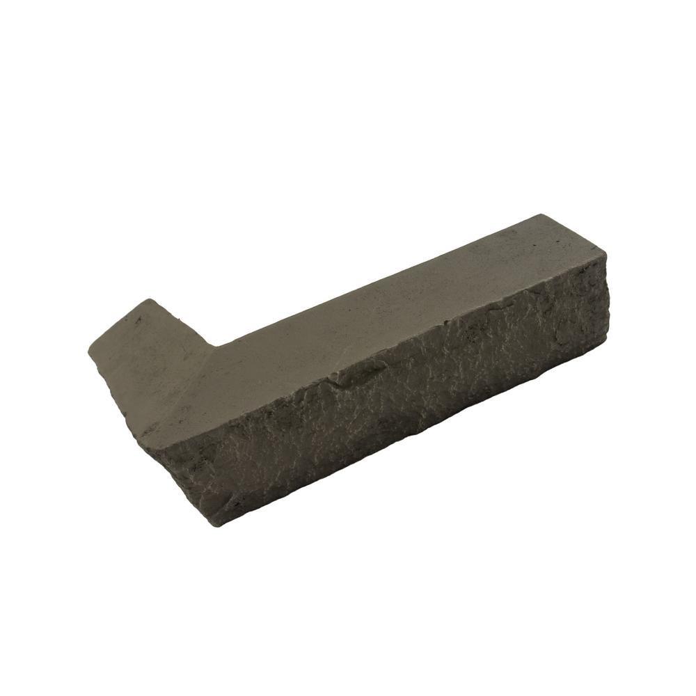 GenStone Stacked Stone 3-1/4 in. x 3-1/2 in. x 11-3/4 in. Keystone Faux Corner Ledger (2-Pack)