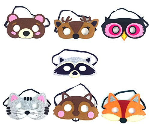 Kool KiDz Birthday Party supplies Forest Friends Felt Animal Mask Party Favors Costumes 7 -