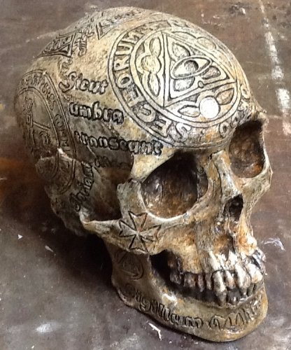Super Detailed Carved Replica Human Skull for Sale