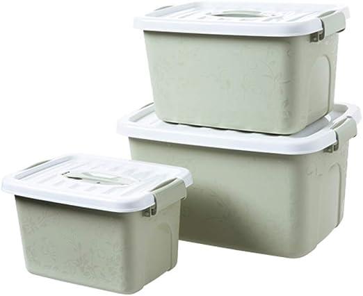 LiChenYao Caja de Almacenamiento de Ropa Cubierta Caja de plástico ...