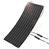 ALLPOWERS 100W 18V 12V Flexible Solar Panel Charger Kit( with ETFE Layer, MC4 connectors)Water-resistant Solar Charger for RV, Boat, Cabin, Tent, Car, Trailer, Other Off Grid Applications