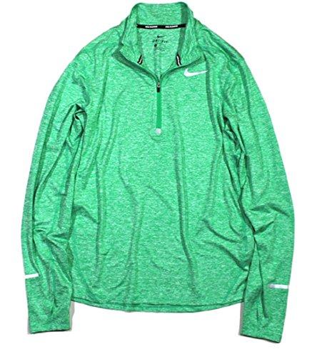 NIKE ナイキ DRI-FIT エレメント ハーフジップ トップ ゴルフウェア 長袖シャツ Mサイズ(163-175cm) 国内正規品 904947 スタジアムグリーン/ヘザー