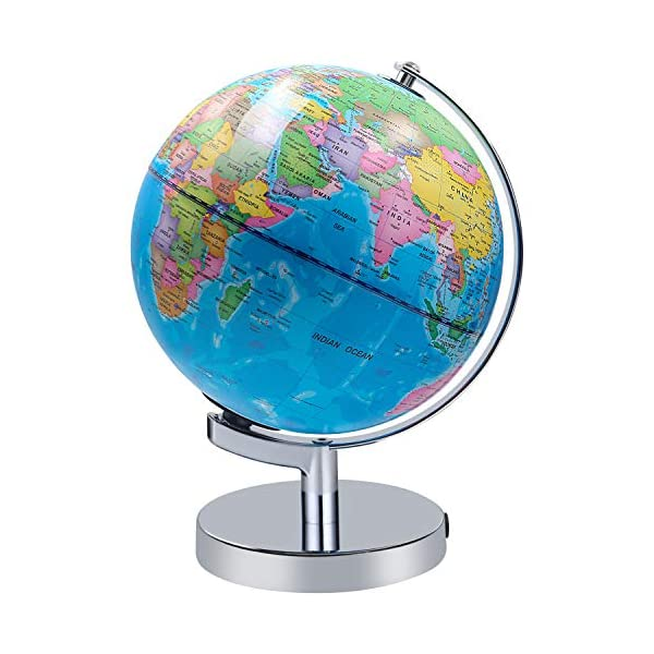 Illuminated World Globe For Kids Educational Globe With Stand Built In Led Night Light Earth Map And Constellation View Blinkee Com