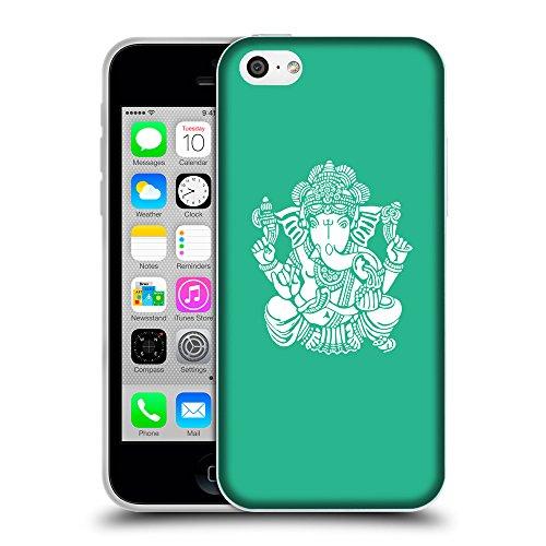 GoGoMobile Coque de Protection TPU Silicone Case pour // Q09580626 Hindou 12 Caraïbes Vert // Apple iPhone 5C