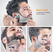 Superb Mycarbon Beard Trimming Guide Stainless Steel Beard Shaping Tool Natural Hairstyles Runnerswayorg