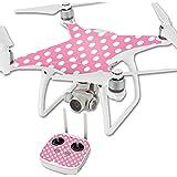 MightySkins Protective Vinyl Skin Decal for DJI Phantom 4 Quadcopter Drone wrap cover sticker skins Mini Dots