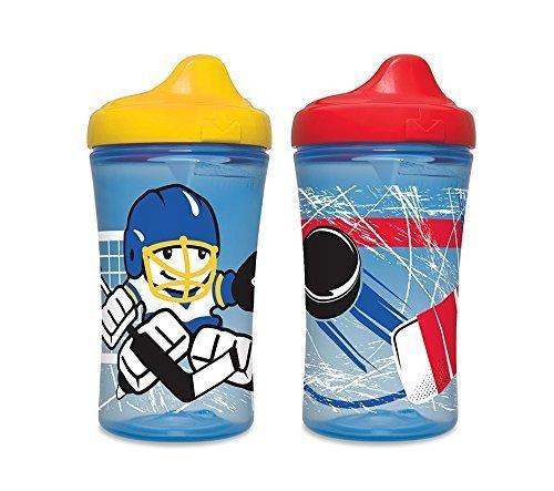 Gerber Graduates Boy's Hockey Hard Spout Cups 10oz 300ML - Pack of 2