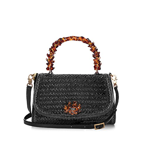 Eric Javits Luxury Fashion Designer Women's Handbag - Ariel - Black by Eric Javits