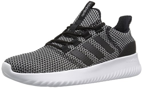 adidas NEO Women's Cloudfoam Ultimate W Sneaker,Black/Black/White,7.5 Medium US
