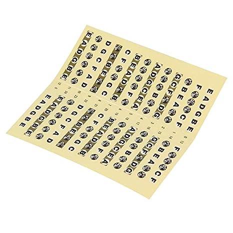 shuaishuang573 Diapasón de la guitarra etiqueta 24 trastes Nota ...