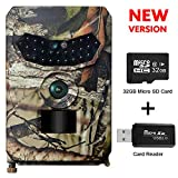 OWSEN Trail Camera 12MP 1080P Wildlife Camera Motion Activated 26pcs IR LEDs Night Vision, IP56 Waterproof Game Camera Hunting Camera with 120°Wilde Angle, Overwrite Function, 32GB TF Card Included
