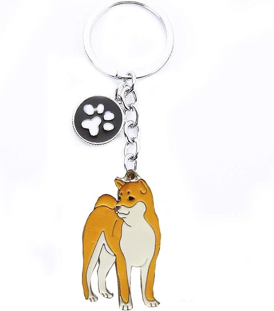 Keychains, Lovely Dog Key-ring Portable Metal Keychain Keyring Key Decor Car Keyring Tag